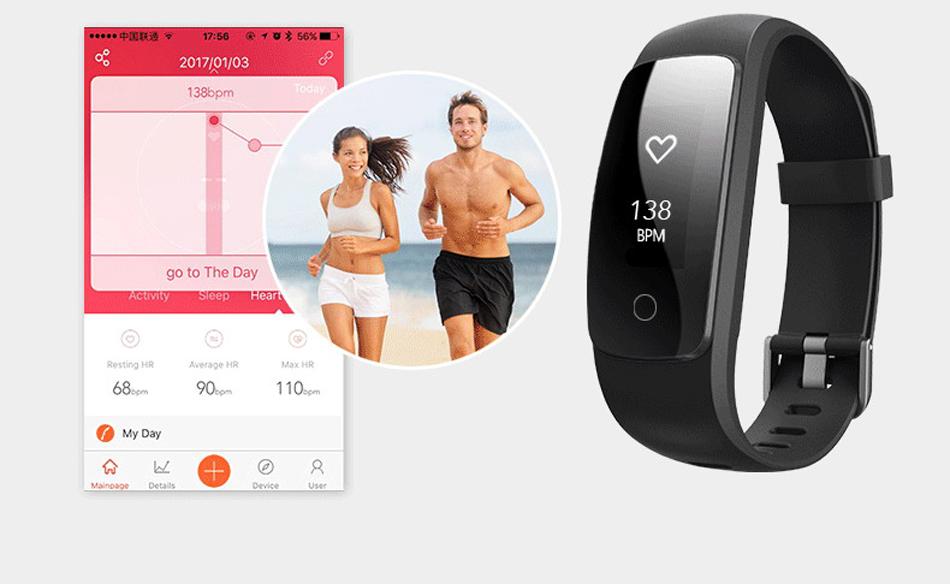 Makibes ID107 Plus HR Smart fitness bracelet (8)