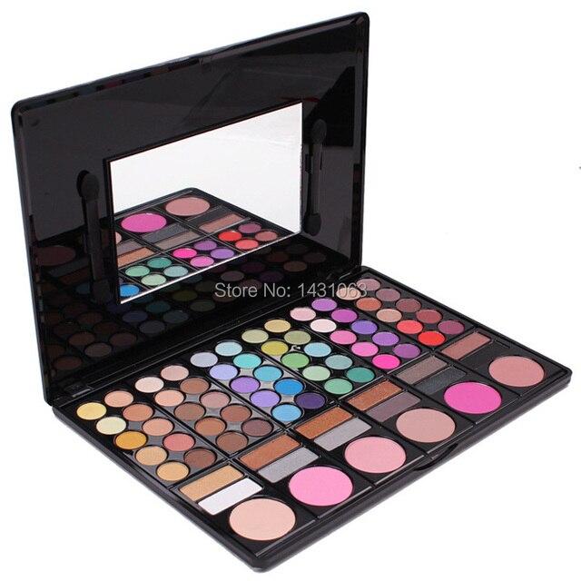 Nueva, profesional caliente de 78 colores maquillaje Set 78 colores de sombra de ojos paleta rostro paleta con alta iluminación sombra de ojos