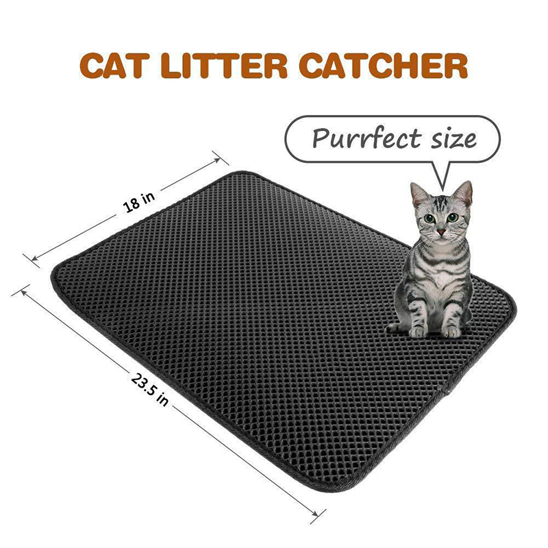 Pets Dog Cat Litter Mat Double-Layer EVA Waterproof Cat Catcher Catch Mat Trapper Pad Smooth Surface Breathable Holes Kitty Bed2
