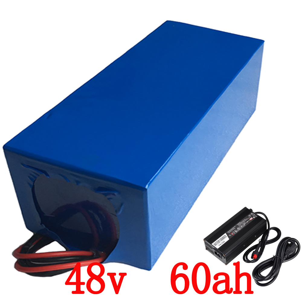 48V 60Ah 4000W use for sanyo cell electric bicycle lithium Battery with  100A BMS and 5A Charger li-ion scooter battery pack free customs taxes super power 1000w 48v li ion battery pack with 30a bms 48v 15ah lithium battery pack for panasonic cell