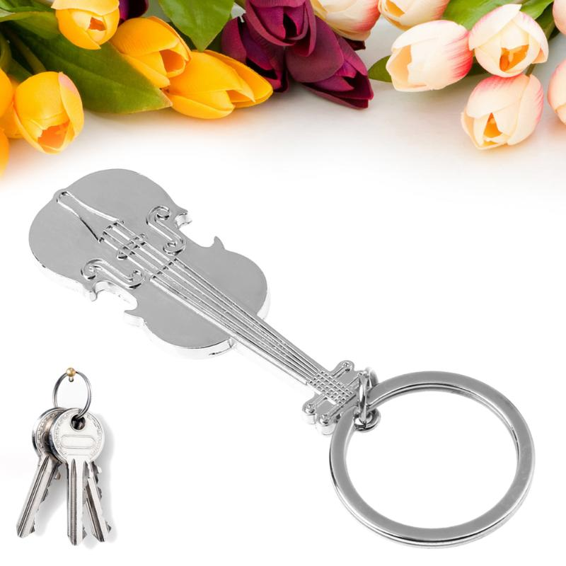 violin music note keychain