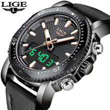 2019 LIGE Mens Watches Top Brand Double