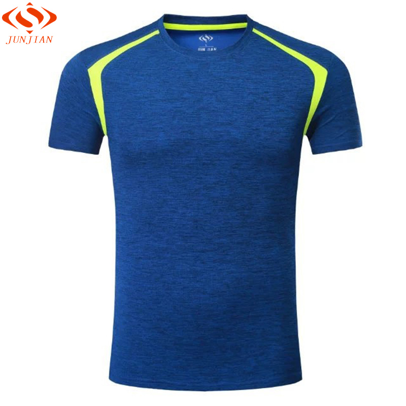 Men Short Sleeve Survetement Men's Sport Running Shirt Quick Dry Basketball Soccer Training T Shirt Men Gym Clothing Sportswear round neck quick dry solid color short sleeve men s t shirt