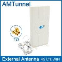 3 Gam 4 Gam LTE Bên Ngoài Bảng Điều Chỉnh Antenna TS9 Nối và 2 meter cáp 700-2600 MHz cho 3 Gam 4 Gam Huawei bộ định tuyến modem