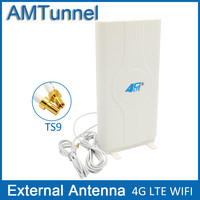 3G 4G LTE External Panel Antenna TS9 Connector And 2 Meter Cable 700 2600MHz For 3G