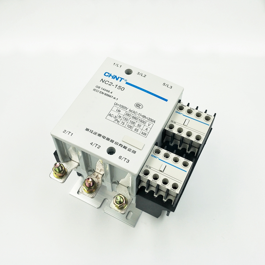 CHINT AC Contactor NC2-150 3P AC220V  AC380V  Contactor ac contactor sc n5px