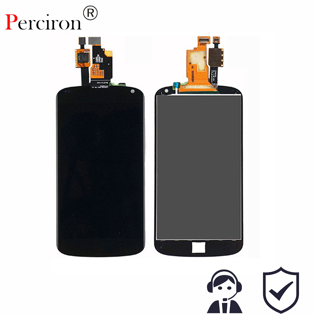 New TEST 4.5 Black For LG Google Nexus 4 E960 LCD Display Monitor Touch Screen Panel Digitizer Full Assembly Parts + Adhesive replacement lcd digitizer capacitive touch screen for lg vs980 f320 d801 d803 black
