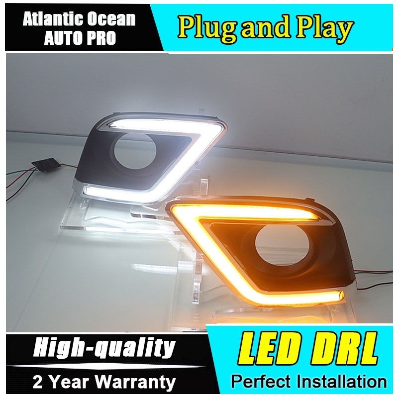 JGRT car styling For Toyota Hilux LED DRL For Toyota Hilux led fog lamps daytime running light High brightness guide LED DRL jgrt for highlander led drl car styling for highlander fog lamps parking led daytime running lights driving