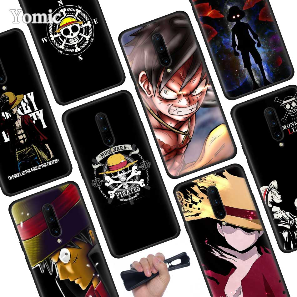 Japanese anime collage one piece luffy Black Soft Case for font b Oneplus b font font