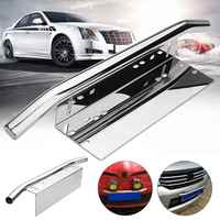Silver Car Bull Bar Light Mounting Bracket Car License Plate Frame Holder 59.5 x 9.8cm