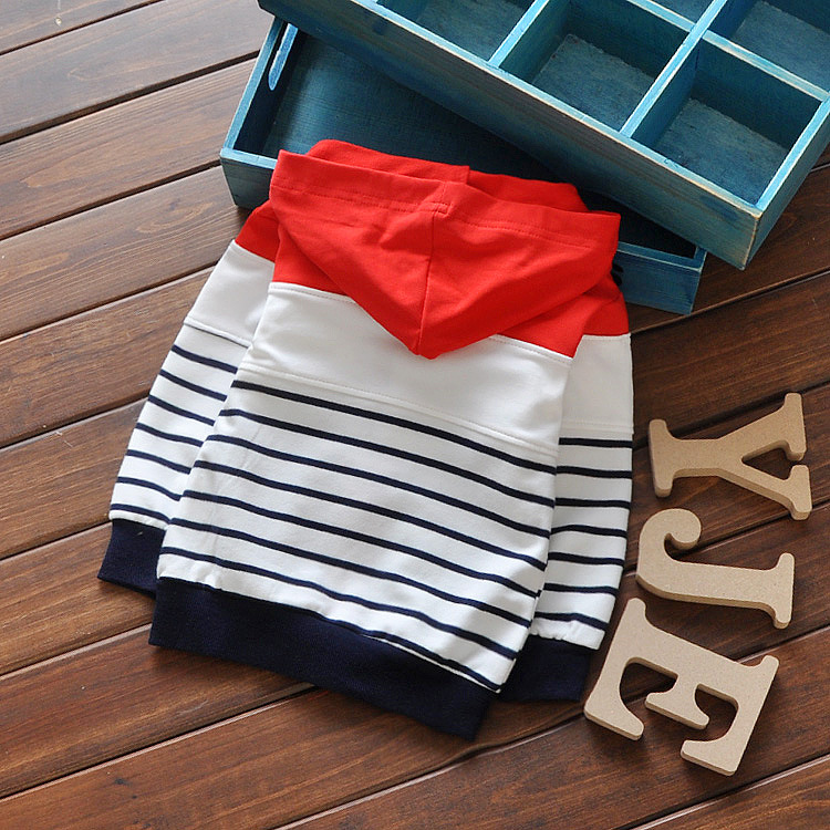 New-Spring-Children-Baby-Boys-Infant-Sweatshirts-Cartoon-bear-stripes-Patchwork-Coats-Hoodies-cardigan-Y1302-3