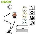 Светодиодный светильник GLE для мини-камеры  10 уровней яркости  настольная лампа для макияжа  Селфи  современный светодиодный светильник  5 Вт...
