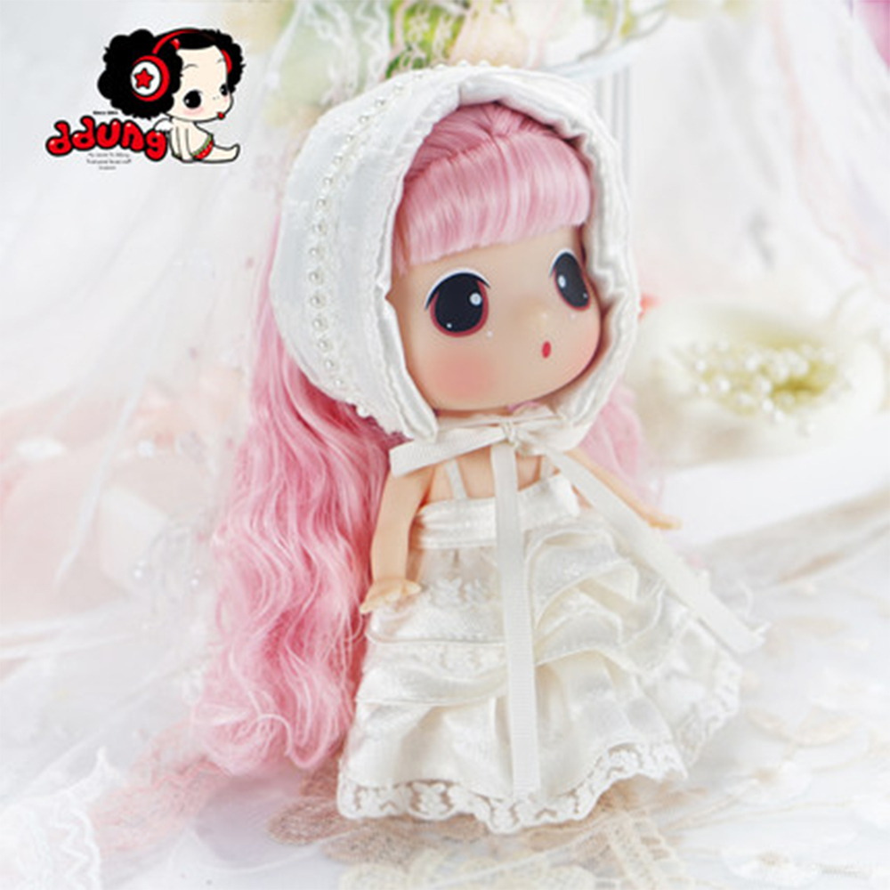 Ddung Doll Limited Edition18cm Genuine Korean Change Dressing Dolls Pink Princess BJD Lovely Baby Girl Present Gift CollectionDdung Doll Limited Edition18cm Genuine Korean Change Dressing Dolls Pink Princess BJD Lovely Baby Girl Present Gift Collection