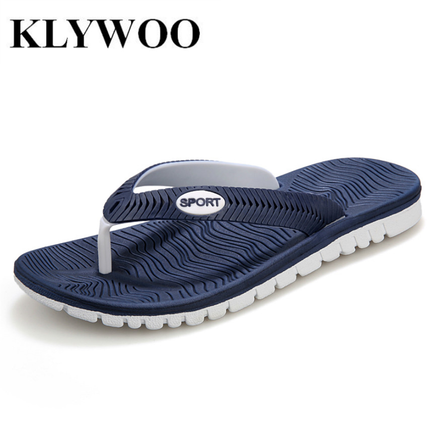 KLYWOO Plus Size 45 New Summer Men Sandals Fashion Breathable Beach Slippers Flip Flops EVA Massage Slippers For Men's Sandals hot sale new 2016 summer eva shoes fashion flip flops men sandals male flat massage yellow beach slippers size 39 44