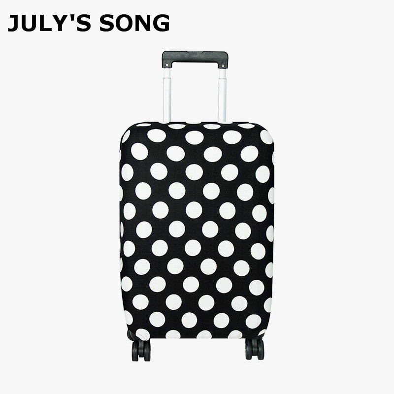 Funda protectora de equipaje de viaje de canción de July funda de maleta cubierta elástica a prueba de polvo para maleta de 18 pulgadas 30 accesorios de viaje