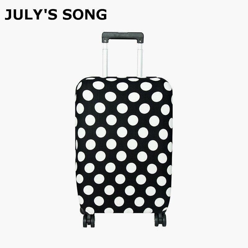 JULY'S canción cubiertas protectoras del equipaje del recorrido maleta elástico a prueba de polvo cubierta para 18-30 pulgadas maleta accesorios de viaje