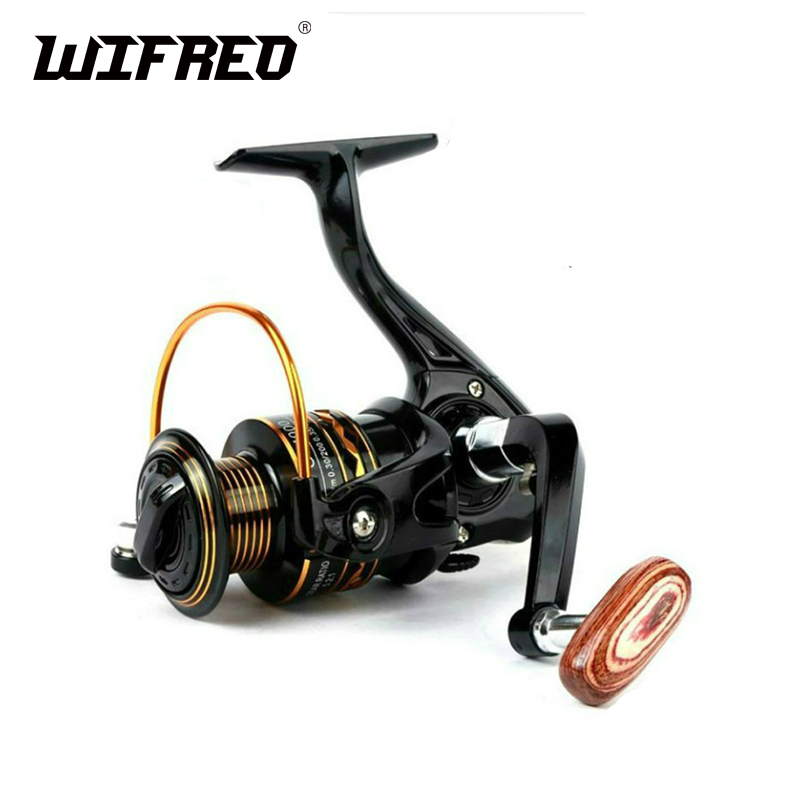 Wifreo Metal Spool Spinning Reel Fishing Reels Size 1000 ~ 7000 Lure Casting Ice Fishing 5.2:1