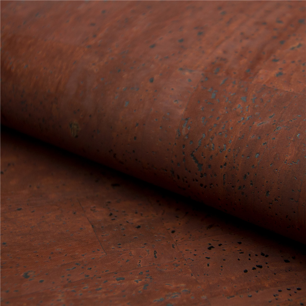 Cork fabric cork textile 68*50cm/26.7*19.6inch dark red Cork Fabric Natural Cork Vegan fabric COF-155 textile creations 1336 rustic woven fabric small