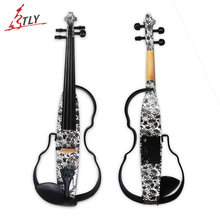 Kinglos Visual Art Acrylic Frame Middle-A Electric Violin 4/4 With Kit