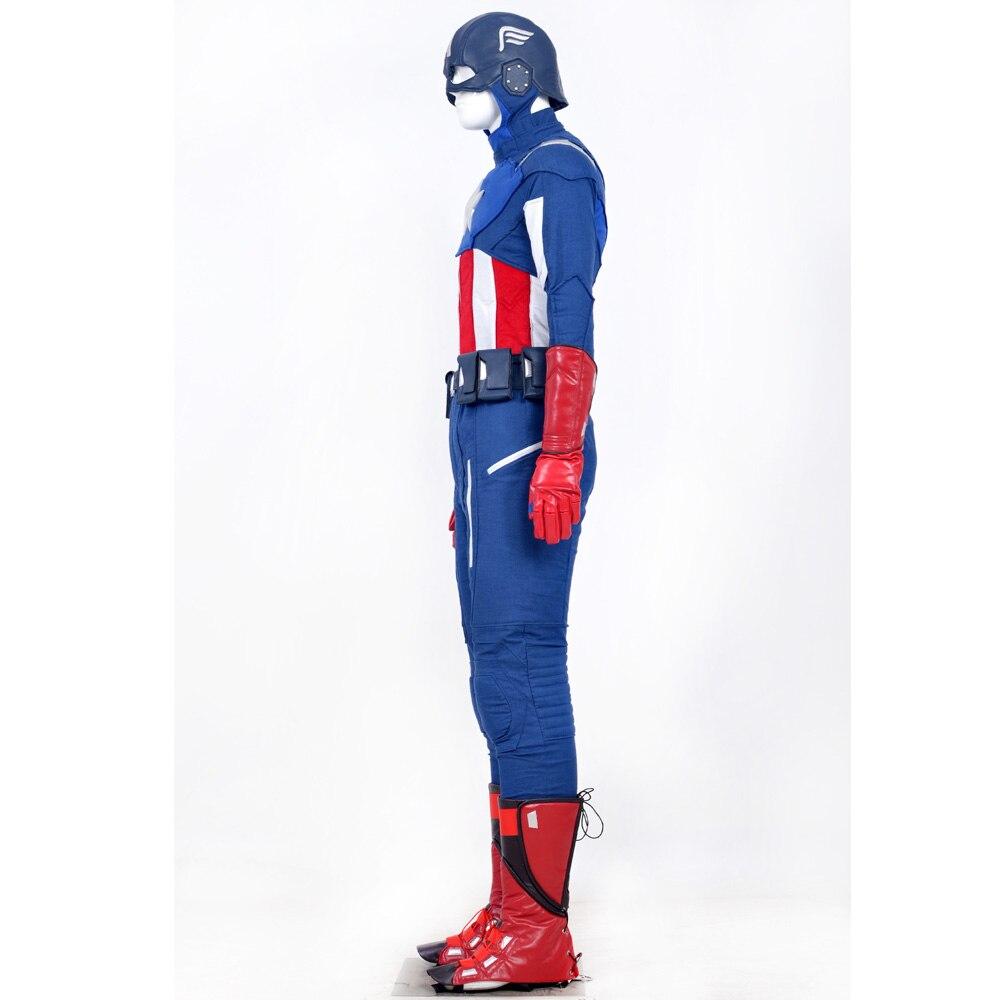 The Avengers Costumes Captain America Hommes Costume Ensemble.  Toppantalonceinturegantsétuichaussures couverturecasque. 1 2 ... 55d3707c026