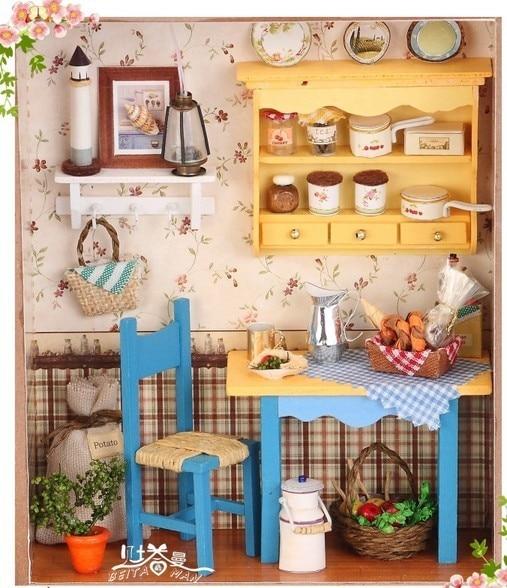 very beautiful handmade doll houses grannys kitchen assemble dollhouse wooden doll houses diy do - Grannys Kitchen