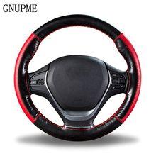 DIY Braid on the Steering Wheel Soft Genuine Leather Steering Wheel Cover 38cm Universal Steering Covers