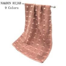 2020 Solid Candy Colors shawls Muslim hijab woman scarves pashmina bandana scarf Free Shipping 10pcs/lot High Quality Christmas