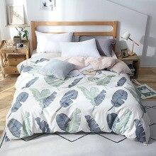 Capa de edredon estilo nórdico, capa de 1 peça de cobertor com edredon, queen, branco e banana tamanho da cama roupas de linho