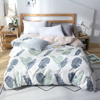 New Nordic Style white Banana Leaf Duvet Cover 1Pc Quilt Cover Comforter/Blanket Case Twin Full Queen King Size Bedclothes Linen
