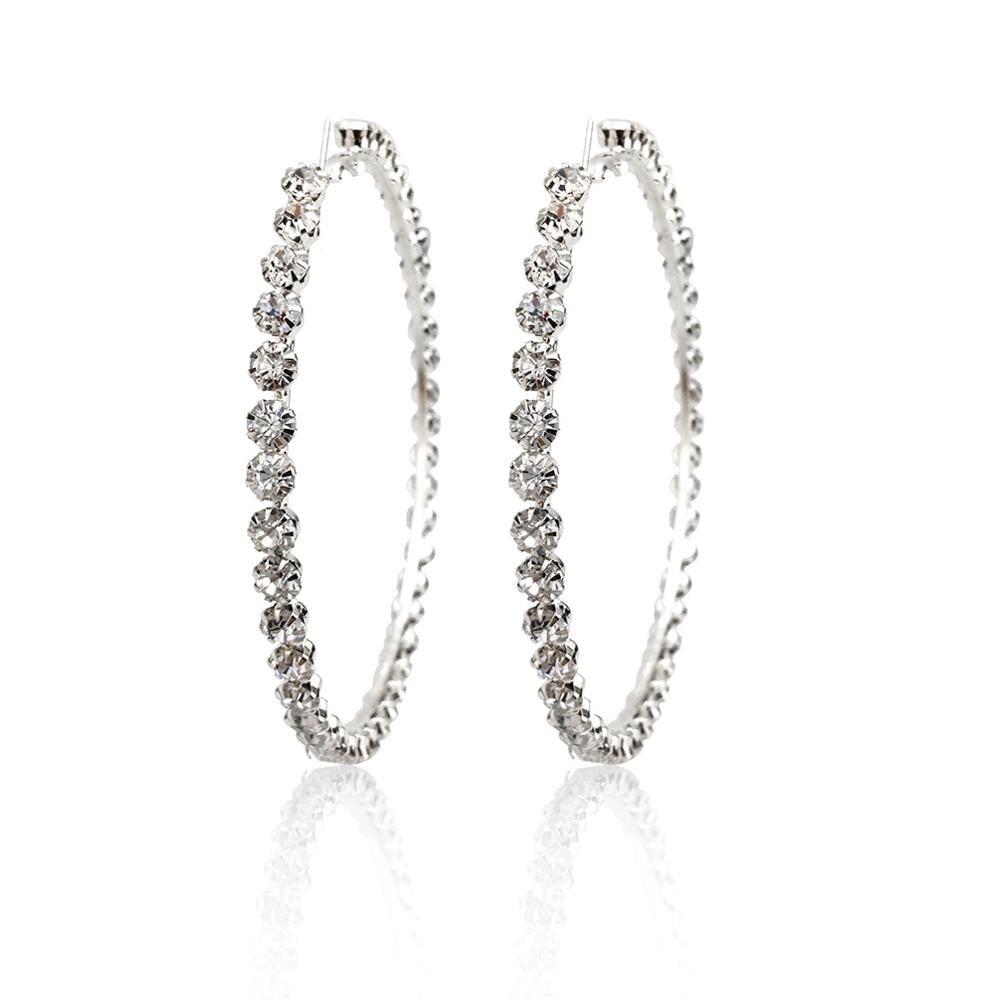 97mm Silver Earrings