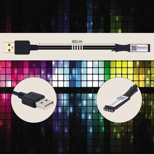 Image 3 - TV arkaplan ışığı RGB LED şerit 5050 su geçirmez 5V USB LED şerit dize aydınlatma APP ile Bluetooth denetleyicisi TV PC monitörü dekor