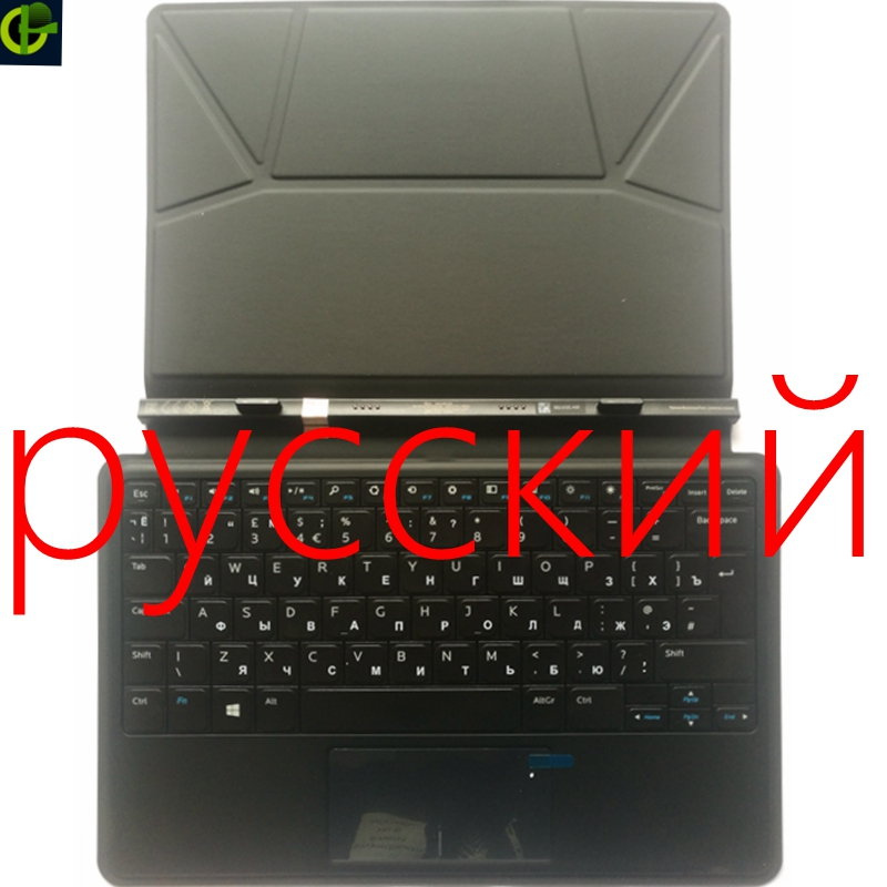 Russian Keyboard For Dell Latitude 11 5175 5179 10.8 inch RU Notebook laptop Case Stand Docking Tablet with cover used look like new black laptop notebook keyboard 0pf236 nsk d5k01 9j n6782 k01 for dell latitude d520 d530 us