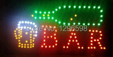 2017 direct selling customed low power 10x19 inch bar store semi-outdoor Ultra Bright led sign board