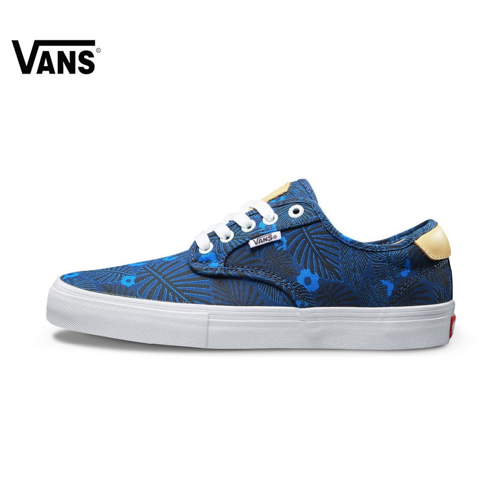 купить Blue Leaves Vans Sneakers Low-top Trainers Men Sports Skateboarding Shoes Flat Breathable Classic Canvas Vans Shoes for Men по цене 5468.31 рублей