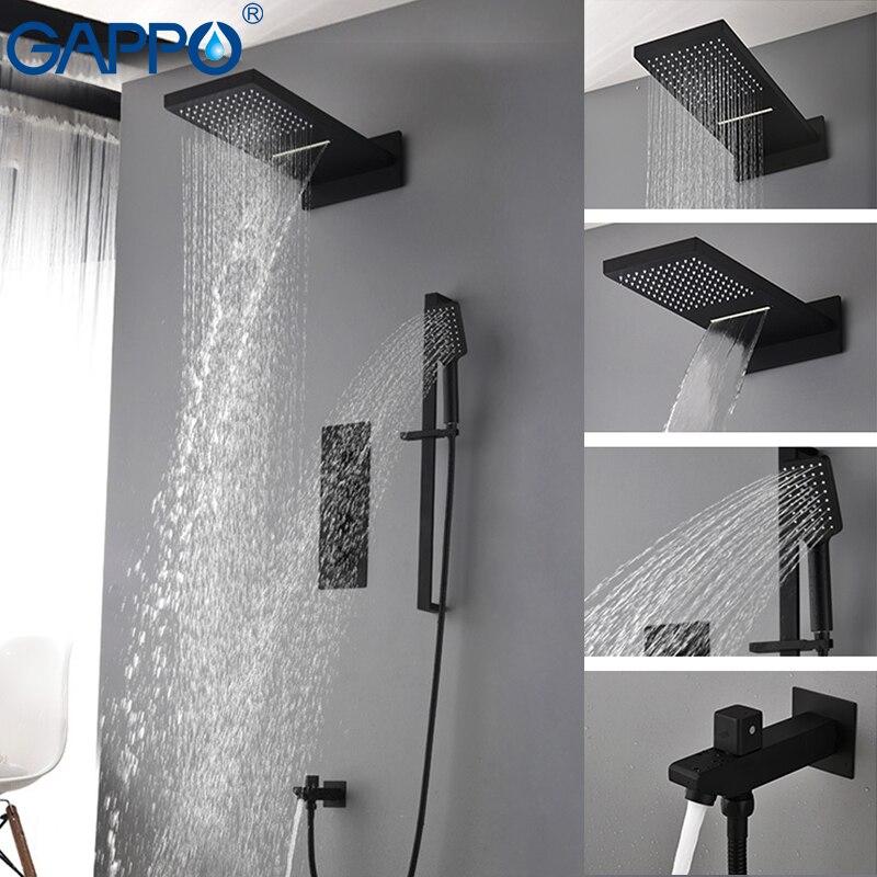 GAPPO doccia rubinetto del bagno rubinetto doccia LED miscelatore del bacino del dispersore rubinetto vasca da bagno in ottone precipitazioni Vasca Da Bagno rubinetti doccia sistema