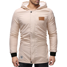 a8016e030b9 Парка мужская пальто 2018 зимняя куртка Мужская Утепленная верхняя одежда с  капюшоном теплое пальто повседневная мужская
