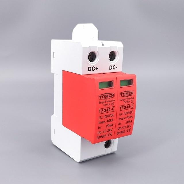 SPD DC 1000V 20KA~40KA  House Surge Protector Protective Low voltage  Arrester Device