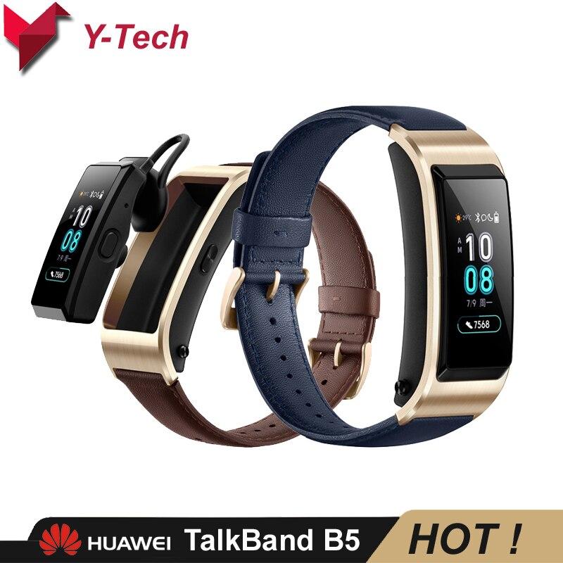 Huawei TalkBand B5 SmartBand Huawei bande intelligente Bracelet appel téléphonique Bluetooth casque traqueur de fréquence cardiaque-in Bracelets connectés from Electronique    1