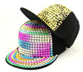 2015 Retail Kids Baseball Caps Non-mainstream rivet Hip hop Cap snapback hats Baby Boys Girls Peaked cap