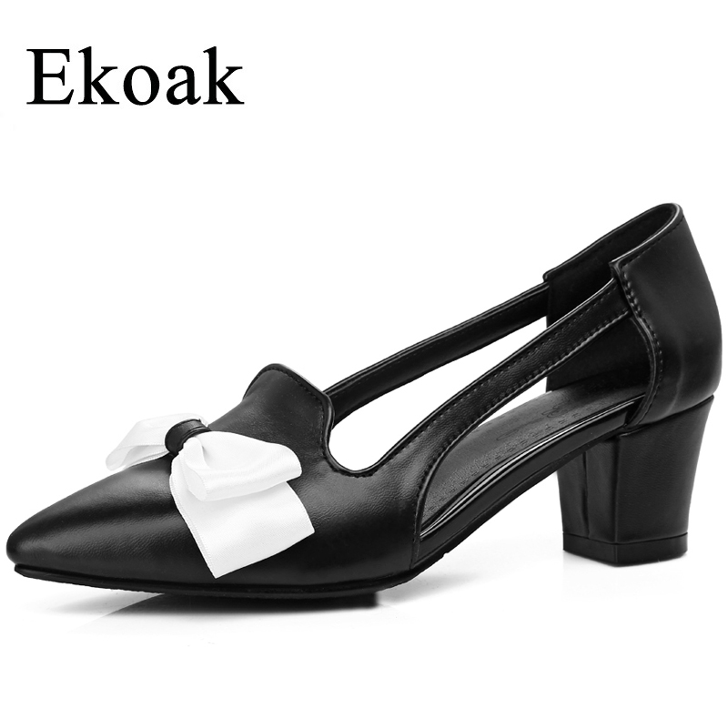 Ekoak New 2018 Fashion Women Sandals Summer Sexy Pointed Toe Women Shoes Ladies Sweet Butterfly-knot High Heels Shoes Woman bigtree summer fashion women high heels sandals suede shallow mouth pointed pearl ladies sandals sexy wedding red woman shoes