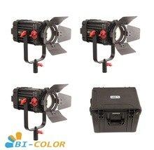 3 Pcs CAME TV Boltzen 100 w Fresnel Focusable LED Bi Color Kit