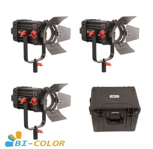 Image 1 - 3 Pcs CAME TV Boltzen 100w Fresnel Focusable LED Bi Color Kit Led video light