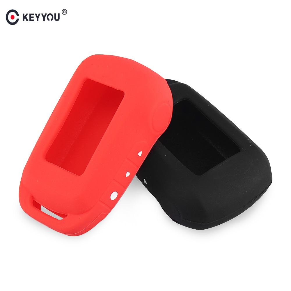 KEYYOU Silicone Key Case For Starline A92 A94 V62 A62 A64 Keychain 2 Way Alarm System Fob Silicone Case Key Cover Remote