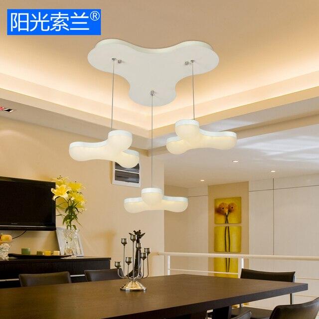 Moderne LED 21 Watt Weiß Acryl 3 Kronleuchter Für Schlafzimmer Bar Tisch  Studyroom Büro Kunst Kronleuchter