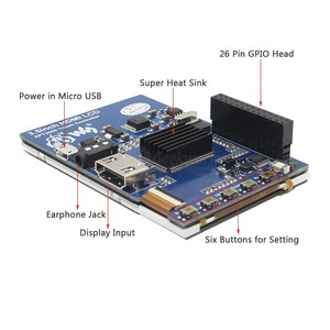 Image 3 - פטל Pi 4 60FPS 3.5 אינץ מגע מסך 320x480 1920x1080 OSD HDMI IPS תצוגה עבור פטל Pi 4 דגם B/3B +/3B/2B/אפס W