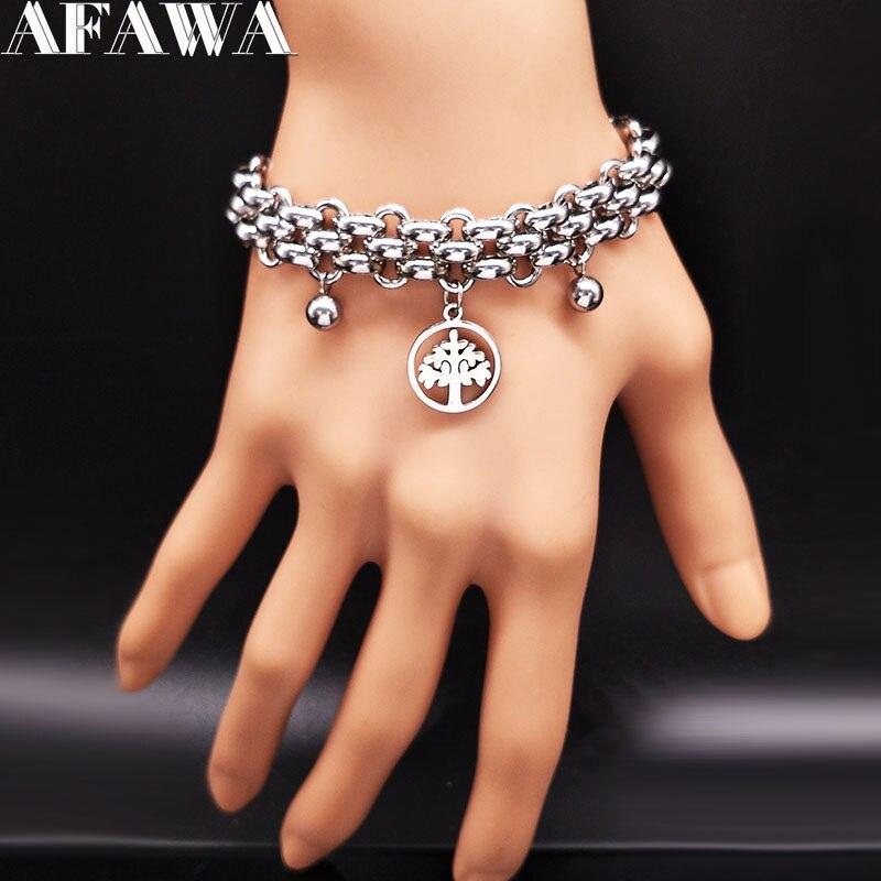 Tree of Life Stainless Steel Bracelets f