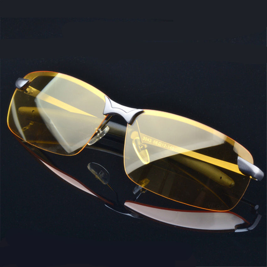 Men's Driver night vision goggles Polarized Sunglasses Sport Alloy Frame Sunglass retro male Glasses driving sun glasses for men