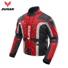 DUHAN Motorcycle Jacket Men Motocross Jacket Windproof Autumn Winter Cotton Lined Motorbike Moto Jacket Protective Gear duhan men s oxford cloth riding motocycle racing jacket coat with cotton liner motocross windproof clothing five protector gear