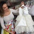 Красивая свадьба формальные ну вечеринку маленькие девочки многоуровневое кружева причастие платья с створки хороший пят детей платьев дизайн