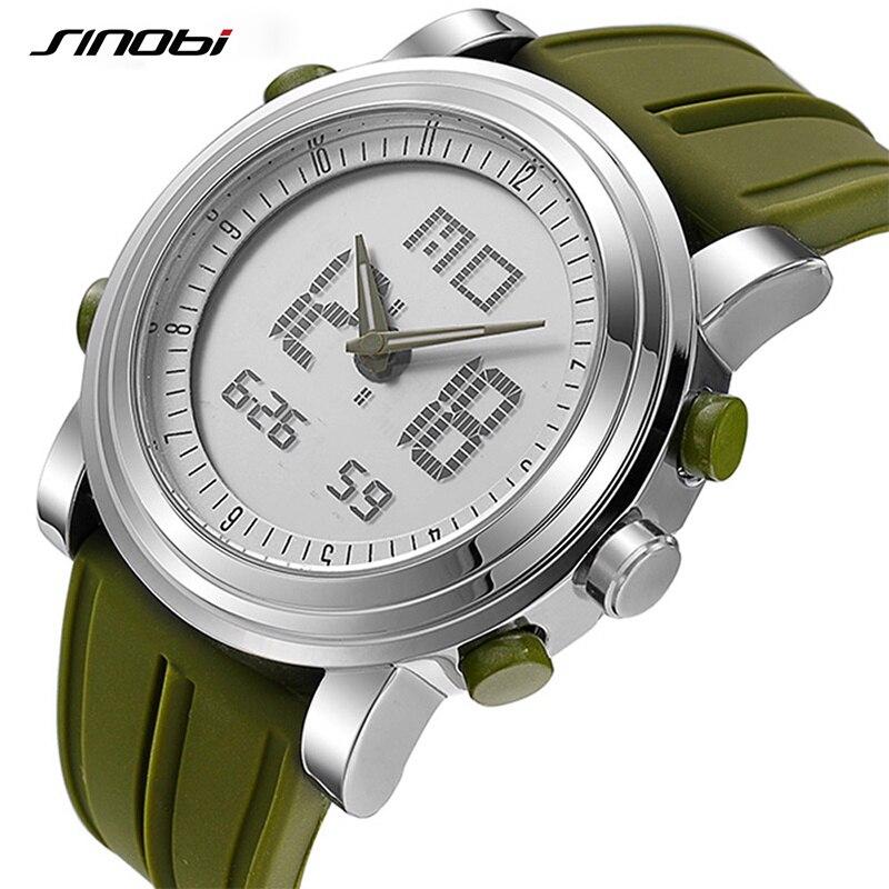 SINOBI Men Watches Digital Sport Clock Chronograph Military Men's Brand Relogio Masculino